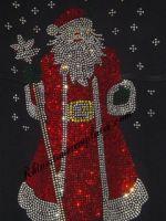 Rhinestone Santa Shirt