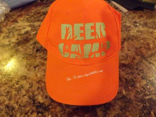 Deer Camp Blaze Orange Hat