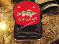 Walleye Customized with your town or lake Cap Hat Embroidered