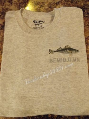 Walleye Left Chest Embroidery with or without your Lake