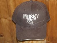 Musky One color Cap Hat Embroidered