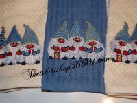 Embroidered Elf Dwarf Dish Towel