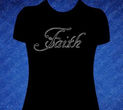 Faith 3 Rhinestone T-shirt
