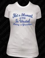 Not a Moment in Life is Wasted Being a Grandma T-shirt