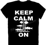 Keep Calm Fish On T-Shirt Hoodie